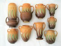 Choose from Roseville FALLINE Vintage Pottery Cir. 1933 Green Pea Pods