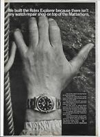 1966 Rolex Explorer watch Matterhorn climber classic vintage print photo ad