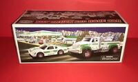 2011 Hess Toy Truck And Race Car~New In Box ~With Original Bag