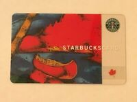 Starbucks Card 2003 Red Canoe Canada Heritage Old Logo RARE Used