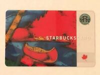 Used Starbucks Card 2003 Red Canoe Canada Heritage Old Logo RARE Nice gloss