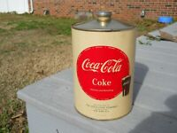 Coca Cola 1950s 1 Gallon Metal Syrup Can with Paper Label - Excellent Condition