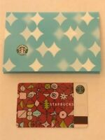 Starbucks Card 2002 Ornaments + sleeve Christmas Holiday Old Logo NEW Rare Mint