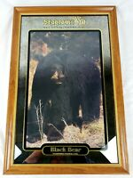 Seagram's VO Whisky Black Bear Mirror Salutes Wisconsin Wildlife Rare 28x19 USA