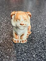 Nicodemus Pottery Tiger Cub Greenish Tan Color