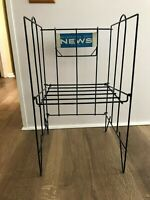 vintage wire Philadelphia Daily News newspaper display rack