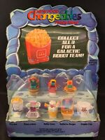1980s MCDONALD'S HAPPY MEAL ROBOTS FOOD CHANGEABLES STORE DISPLAY COMPLETE SET