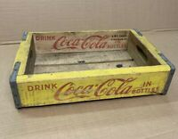 ✅⭐️ Vintage 1962 Wooden Yellow Coca-Cola Coke Soda Pop Bottle Crate Carrier Box