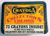 CRAYOLA COLLECTIBLE COLORS TIN & RETIRED CRAYONS 1991 LIMITED EDITION - SEALED