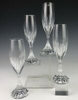 Set 4 Baccarat France French Cut Crystal