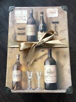 Vintage Storage Box With Handles Wine Themed by Tri Costal Design