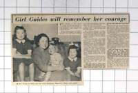 1958 Brave Rescue Attempt By Mrs Myra Irving 12th Brighton Girl Guides Thames