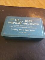 Vintage Advertising Tin Tool Box HELL BOX Odd Advertising