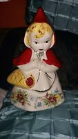 Vintage USA Hull Ware Little Red Riding Hood Cookie Jar 967