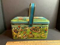 Vintage United Happiness Candy Stores Tin Lunch Box, Circus Theme, Elephants