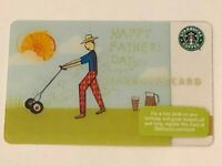 Starbucks Card 2010 TEST Fathers Day Summer Lawn Mowing NEW Rare EXCELLENT