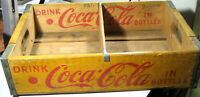 COCA-COLA WOODEN CASE FOR 4 6-PACK BOTTLES FROM 1956, USED IN GOOD CONDITION