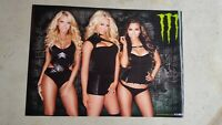 Monster Energy Girl Poster Lot of 3 Posters