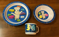 NEW! 2000 Pillsbury Doughboy Child's Dinner Plate Setting Set -Plate, Bowl