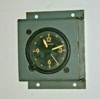 Vintage Wakmann Watch  Co.  8 day clock aircraft  WWII era. Swiss.    airplane