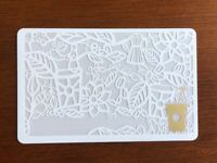 Starbucks Card 2008 TEST White Gold EXTREMELY RARE NEW MINT- No logo or serial #