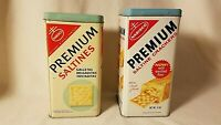 2 Vintage Nabisco Saltine Cracker Tins-2 Sizes of Cracker Boxes-Nice Graphics