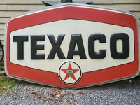 Vintage 1960's Texaco Gas Station Sign, great patina, Large, -  6 ft. X 10 ft.