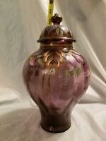 Fenton Ginger Jar purple flowers 10#x27;#x27;tall Excellent Condition