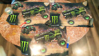 MONSTER JAM, MONSTER ENERGY lot of 3 Posters  (22 x 15) NEW. FREE SHIPPING.