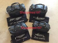 Aston Martin Vantage 4-Pce Luggage Set - BlackSpectral Blue Leather *RRP 2880+*