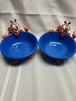 Kelloggs TWO Tony the Tiger Breakfast Cereal Bowl 2000  A.A. ROBINSON INC USA
