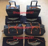 Aston Martin DB11 4 piece Luggage set - Holdall Black & Tan - NEW RRP £3151.80