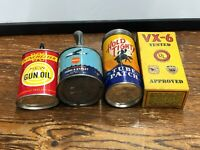 4 CAN LOT Vintage WINCHESTER GUN OIL PERMATEX AVIATION HOLT TIGHT PATCH VX-6 Gas