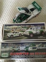 2009 Hess Race Car Racer  2011 Truck Car 2012 Helicopter Rescue NR Mint