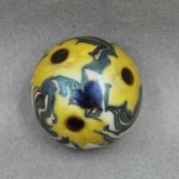 Orient and Flume 1973 Studio Art Glass Paperweight Sunflowers
