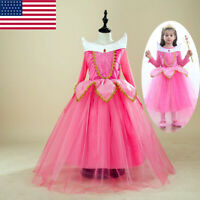 Kids Girl Dress Beauty Aurora Fancy Costume Size 120 For 3 4 Years Party USA