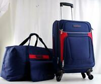 NAUTICA OCEANVIEW 3 PC. LIGHTWEIGHT LUGGAGE SET NAVY BLUE RED **used** 2
