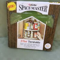 Vintage Sterlite Space Master Two Tier Lazy Susan Green New in Package