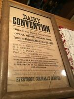 "ANTIQUE Vintage 1905?  DAIRY CONVENTION Dairy Sign 23"" X 15 3/8"""