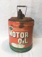 Large Vintage Farm Oyl Lubricants Tractor 5Gallon Metal Oil Can Gas Station Sign