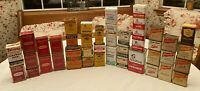 43 VINTAGE LOT  Very Old SPICE TINS - Durke Shillings Frenchs HomeBrand Tone