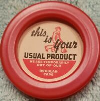 Vintage Dairy milk bottle cap farm advertising label This is Usual product OUT
