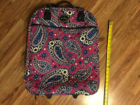 Used CLASSIC Purple Berry FLORAL DESIGN VERA BRADLEY WHEELED SUITCASE SPINNER
