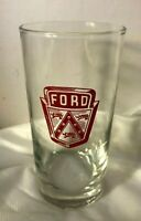 FORD MOTOR COMPANY Drinking Glass Tumbler Advertising FORD shield
