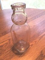Vintage Cream Top Milk Bottle Meadow Gold Clear Embossed One Quart