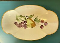 """Vintage Los Angeles Pottery Ceramic Bowl Made In USA 13"""" Long 8"""" Wide"""