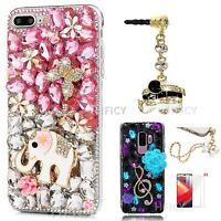 Soft Bling Sparkly Full Crystals Diamonds Phone Case for Samsung With Dust Plug $12.98