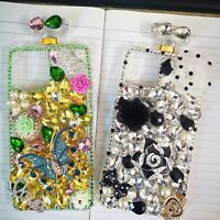 Bling Sparkle Diamonds Perfume Bottle Case For iPhone LG Samsung With 2 Films A $13.99