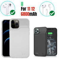6800mAh Battery Case smart For iPhone 11 12 Pro Max Power Bank Charging Cover $26.01