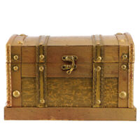 Rustic Wooden Pirate Boxes Colonial Style Trunks Treasure Chest Vintage Storage